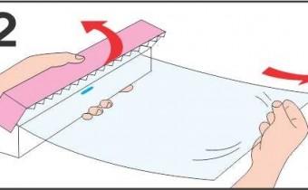 Cách sử dụng dao cắt gắn trong hộp Màng bọ